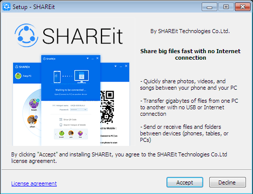 ACCEPT SETUP SHAREIT