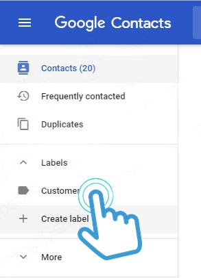 create-label-google-contact