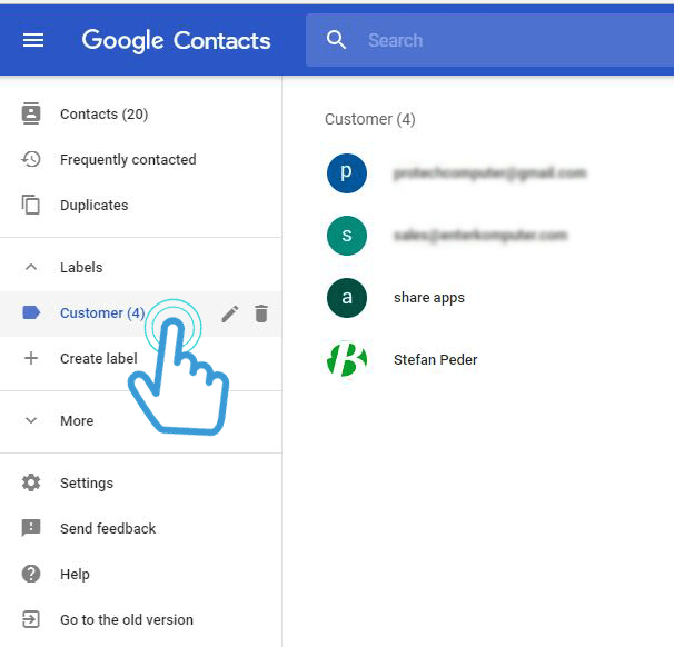 list-label-google-Contact