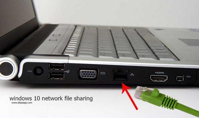 windows 10 network file sharing