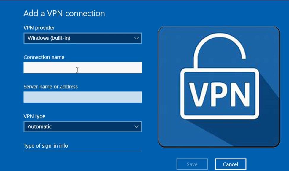 how to setup vpn on laptopPC windows 7810