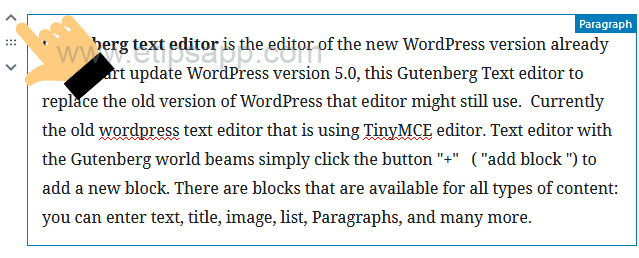 drag and drop block wordpress GUTENBERG editor