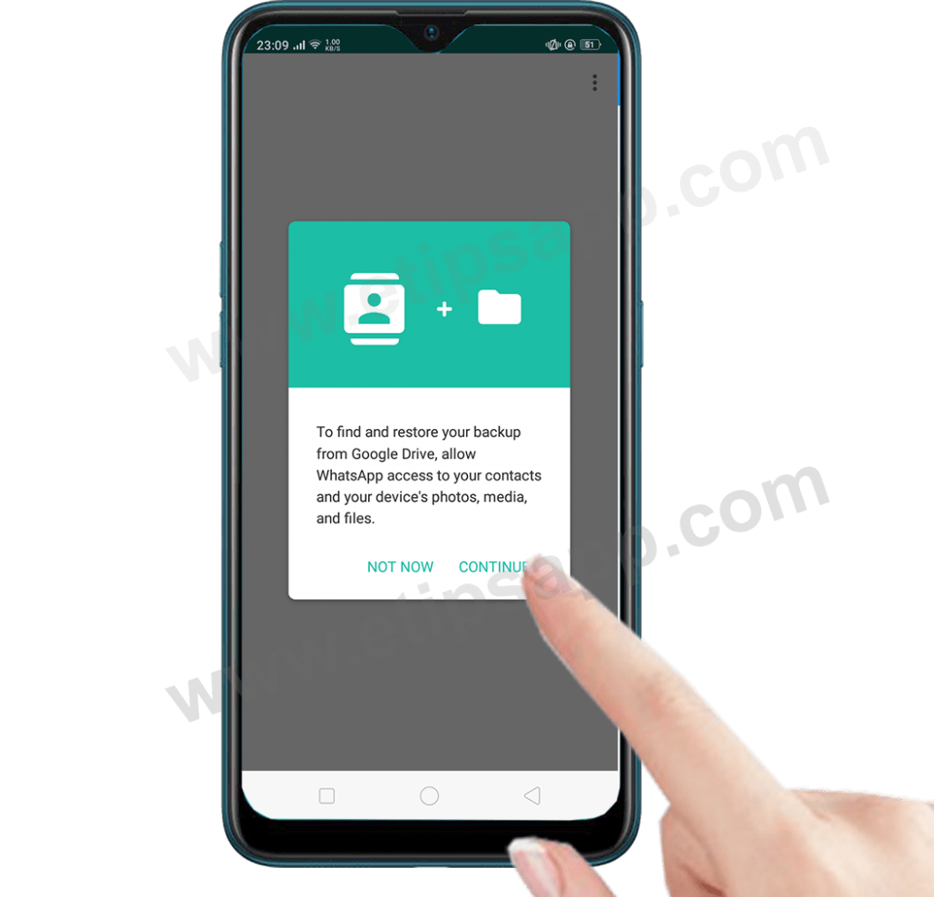 find and restore your whatsapp backup from google drive