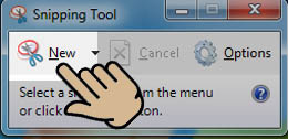 New Snipping tool windows 10