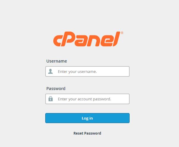 cPanel Login to install wordpress in Hosting