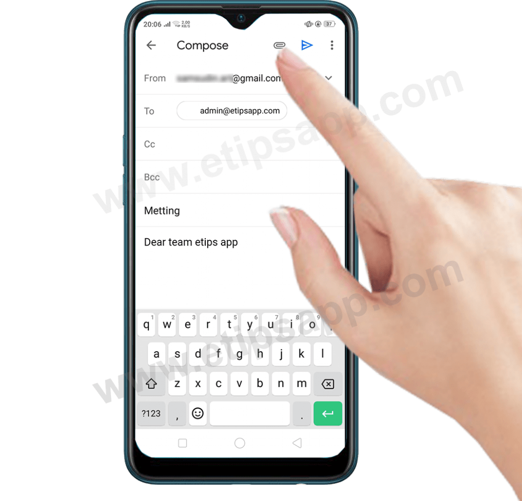 how to attach a file in gmail on android