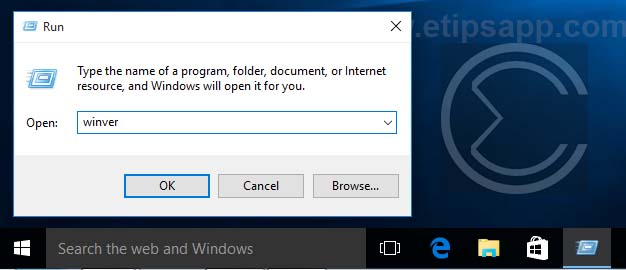 typr the name of program run menu windows 10