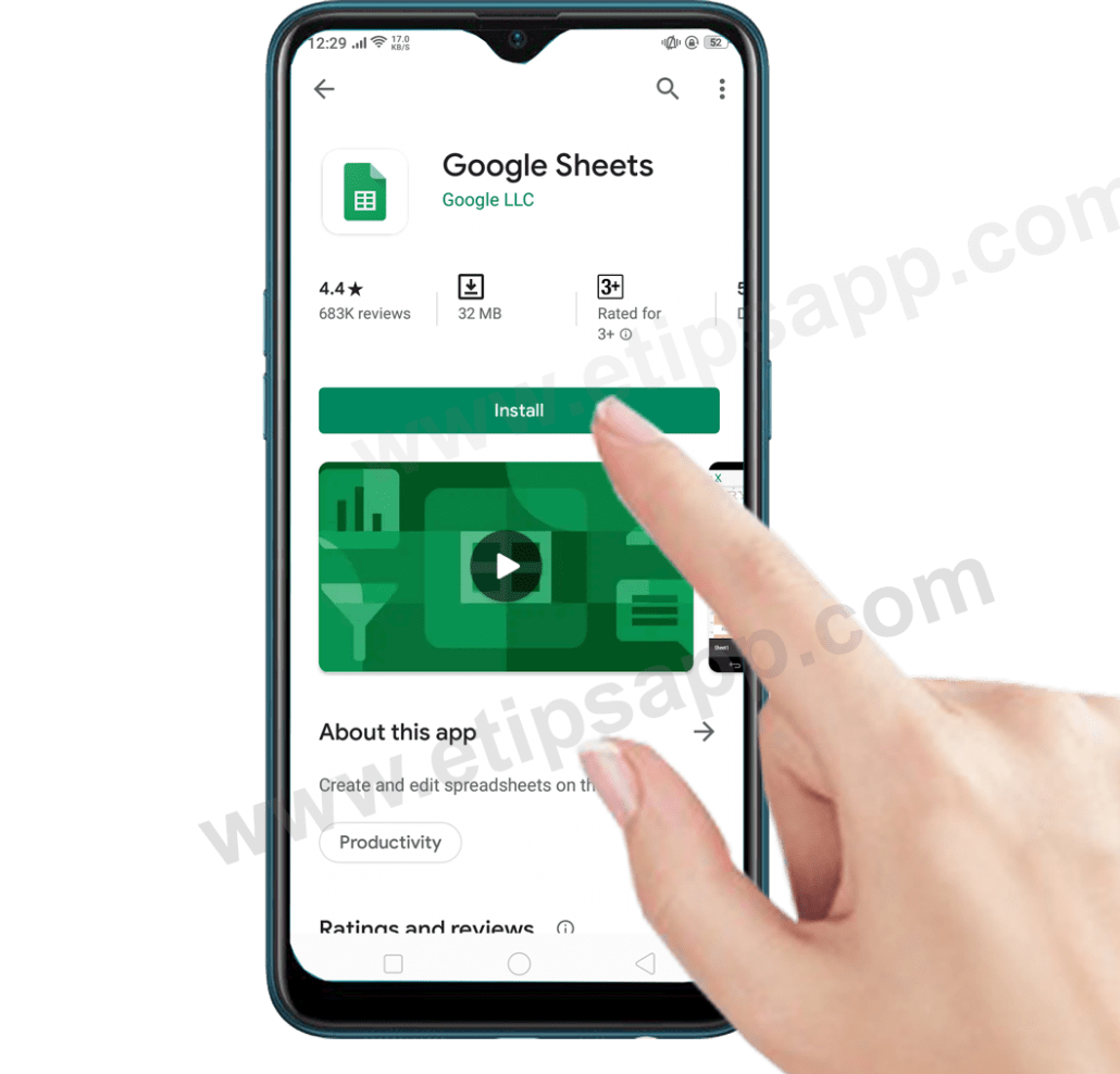 how to install google sheets on android