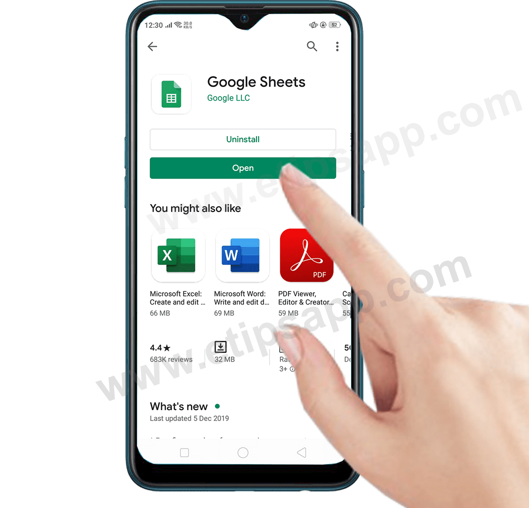 open google sheets on android