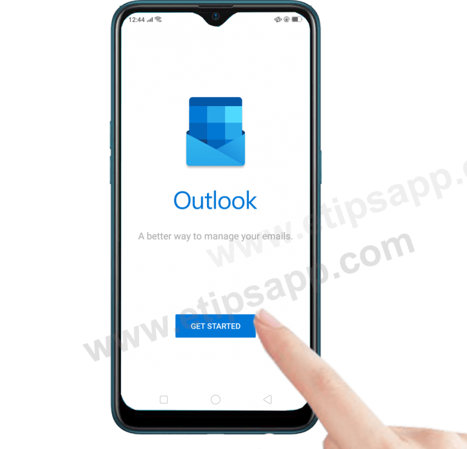 get started outlook for android