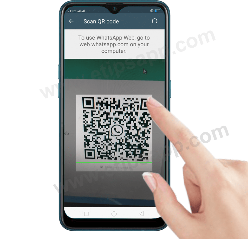 Scan QR code whatsapp web business