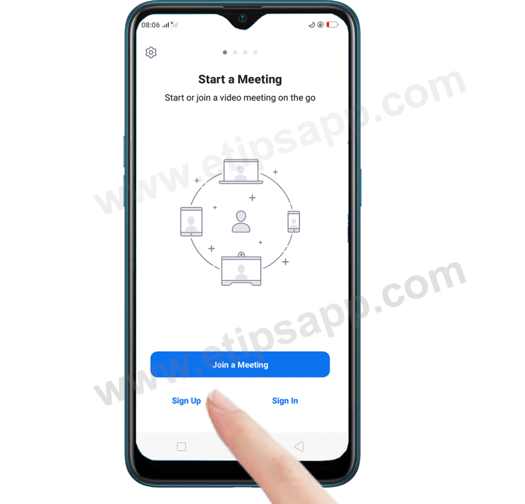How to Sign Up Zoom Cloud Meetings app android