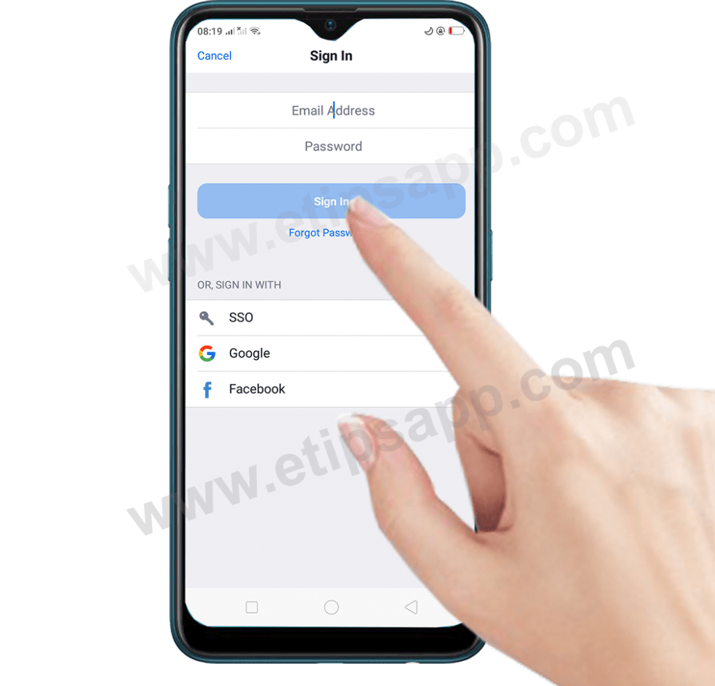 How to Sign in Zoom Cloud Meetings app android