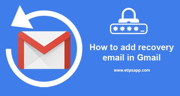 How to add recovery email in Gmail