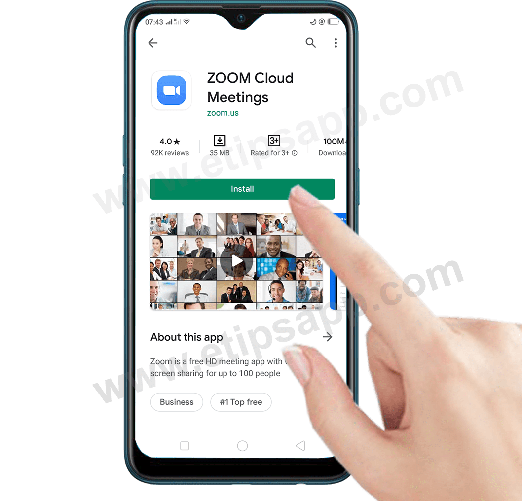 How to install Zoom Cloud Meetings app android
