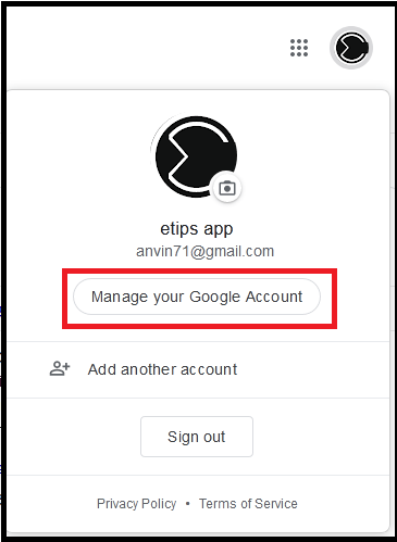 How to manage your google Account verify