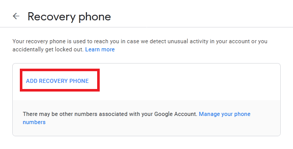 How to recovery email google Account via Recovery phone