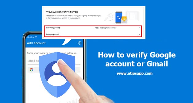 How to verify Google account or Gmail