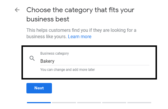 Set Your Business category Google Business