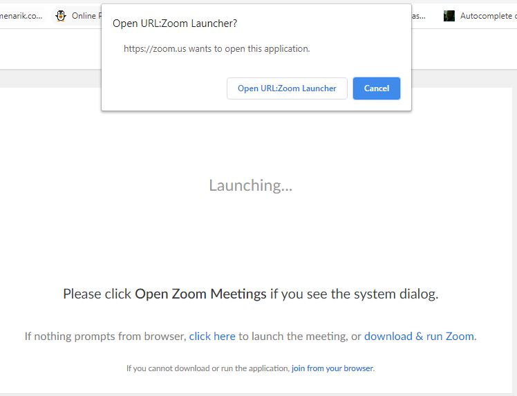 Zoom launcher join meeting