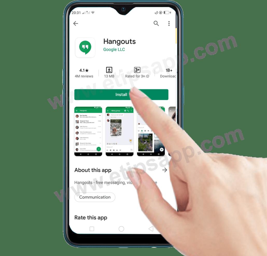 download Google hangouts app