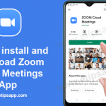 how to install and download zoom cloud meetings application google play