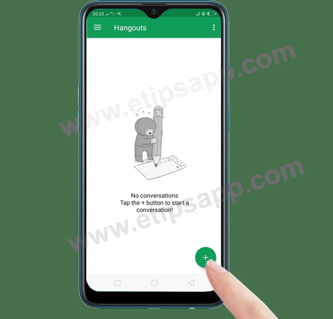 invite friends Google hangouts app