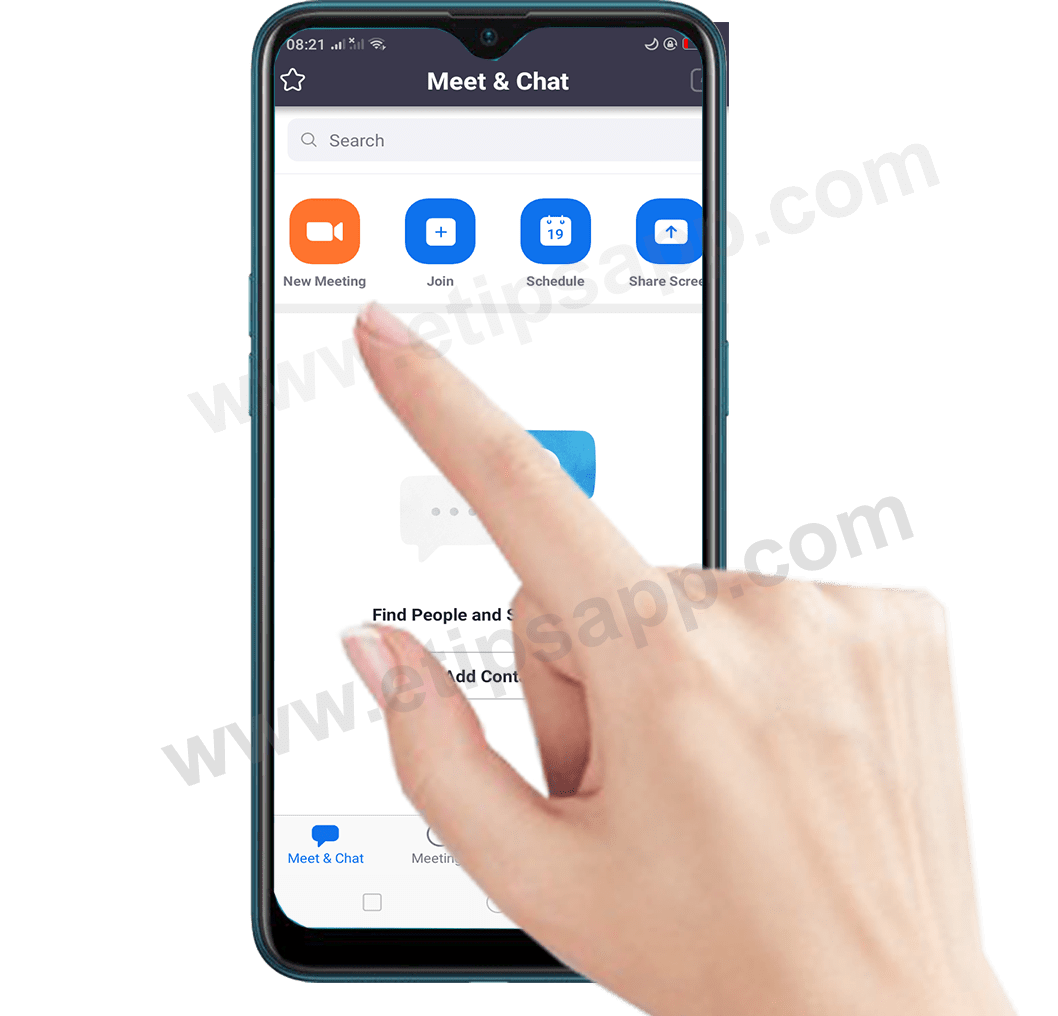 new meeting Zoom Cloud Meetings app android