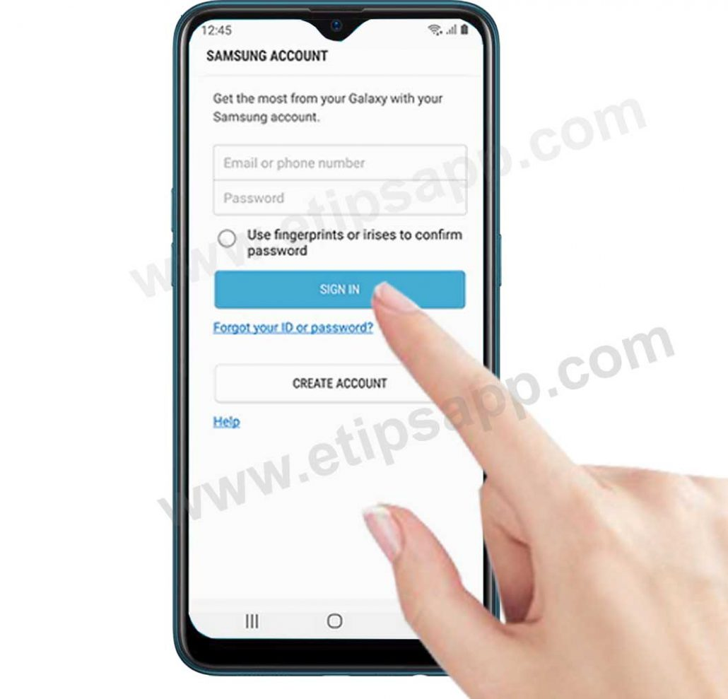 sign in to your samsung account find my mobile