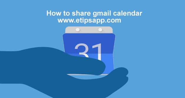 How to share gmail calendar