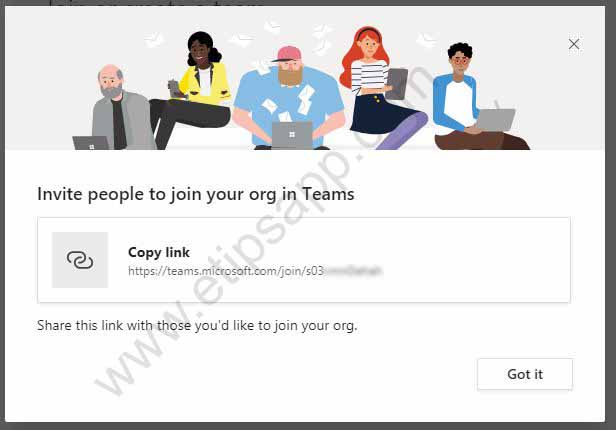 Microsoft Team Invite people to join your org in Teams