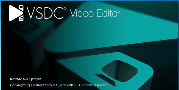 VSDC VIdeo Editor run