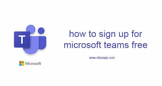 how to sign up for microsoft teams free