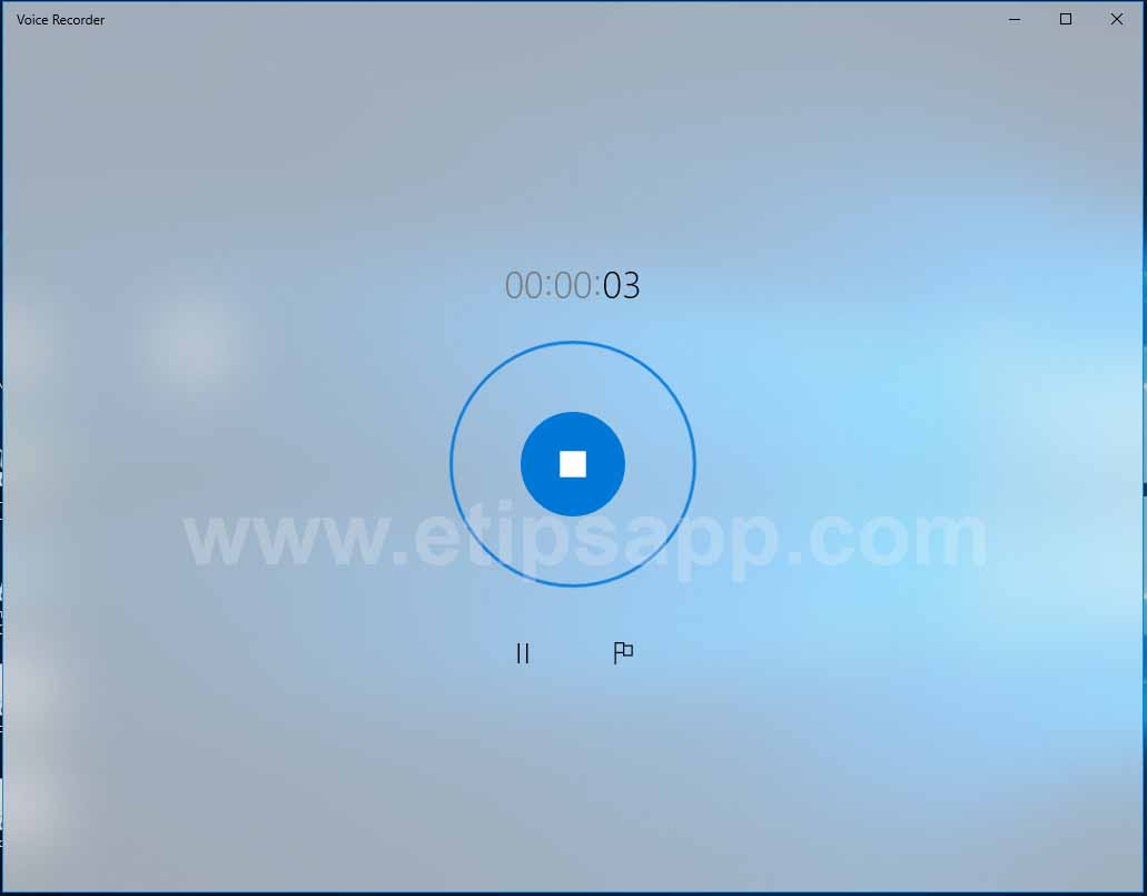 stop voice Recorder windows 10