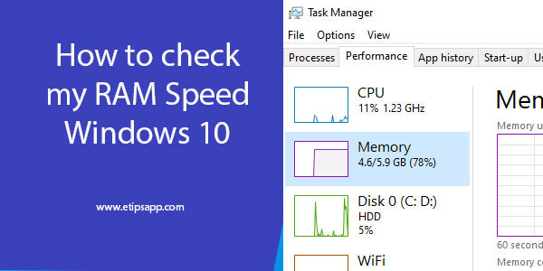 How to check my RAM Speed Windows 10