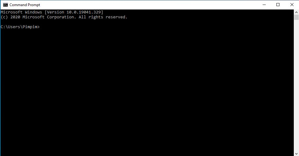 Using Command Prompt (CMD)