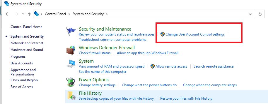 Change Use Account Control Settings Windows 10
