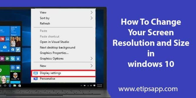 How To Change Your Screen Resolution and Size in windows 10