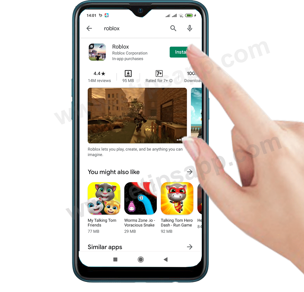 how to download and install Roblox in Android Tips Application