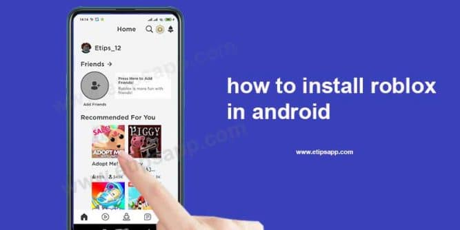 how to install roblox in android