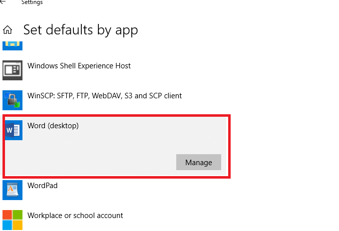 set default by app windows 10