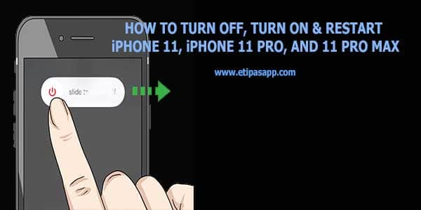 How to turn off, turn on & restart iPhone 11, iPhone 11 Pro, and 11 Pro Max