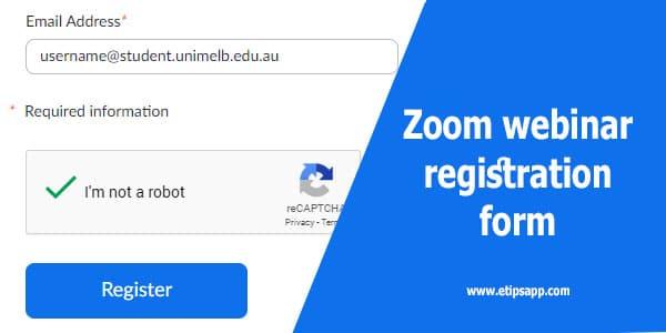 Zoom webinar registration form