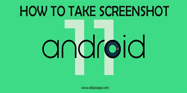 How to take screenshot on Android 11