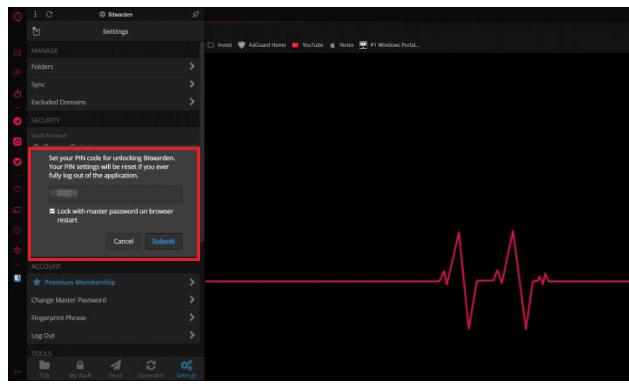 How To Setting BitWarden Application Login Using a PIN