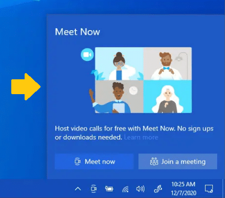 How To Disable Microsoft's 'Meet Now' Feature In Windows 10