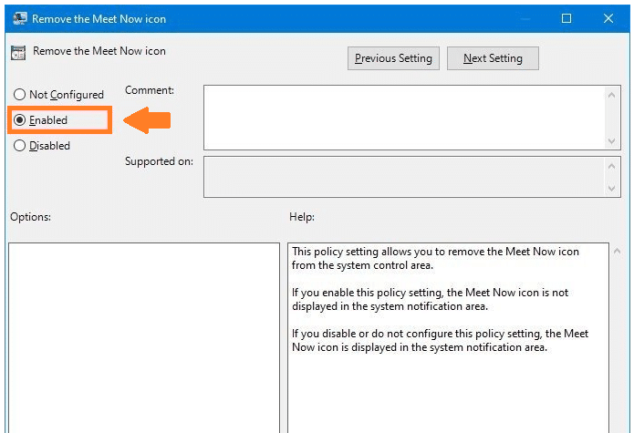 How to disable Meet Now with Group Policy
