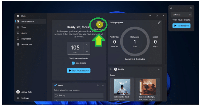 Increase Productivity with Focus Sessions Feature in Windows 11